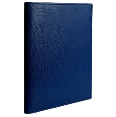Saffiano Bi Colored Passport Sleeve Blue - MEN - ACCESSORIES - WALLETS & SMALL GOODS - Mates In Style Fashion