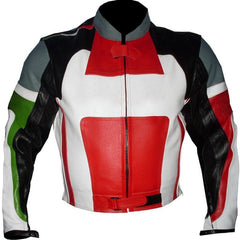 Black Red Biker Racing Leather Jacket | Buy MEN - APPAREL - OUTERWEAR - JACKETS Products Online With the Best Deals at Anbmart.com.au!