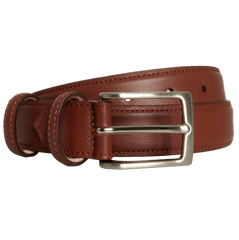 30 Mm Sartorial Fine Grain Leather Belt Brown - MEN - ACCESSORIES - BELTS - Mates In Style Fashion