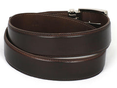 PAUL PARKMAN Men's Leather Belt Hand-Painted Dark Brown (ID#B01-DARK-BRW) | Buy MEN - ACCESSORIES - BELTS Products Online With the Best Deals at Anbmart.com.au!