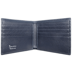 8 CC Small Pebbled Calf Leather Billfold Wallet Navy - MEN - ACCESSORIES - WALLETS & SMALL GOODS - Mates In Style Fashion