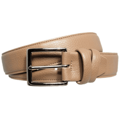 34mm Duo Ply Calf Leather Belt Taupe - MEN - ACCESSORIES - BELTS - Mates In Style Fashion