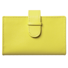Saffiano Business Card Case Lemon | Buy MEN - ACCESSORIES - WALLETS & SMALL GOODS Products Online With the Best Deals at Anbmart.com.au!
