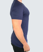 Solid T-Shirt Blau