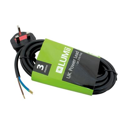LUMII UK power Lead - 3m