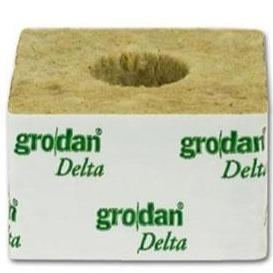 "Grodan 4"" Rockwool Cubes Large Hole(1"") - The Grow Store"