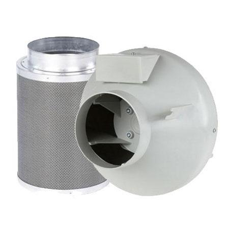 RVK Fan & CarboAir 50 Filter Extraction Kit - Alum Ducting