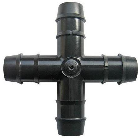13mm Barbed Cross Connector