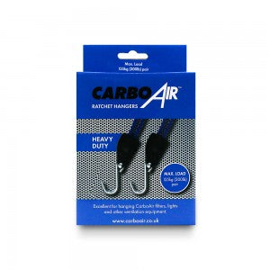 CarboAir Heavy Duty 135kg Rope Ratchet Hangers (pair)