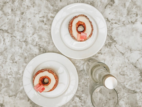 two rhubarb cronuts from dominique ansel in london