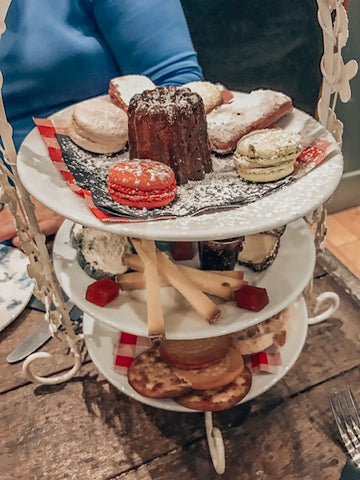 tray of afternoon tea treats