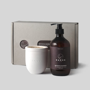 Hand Soap & Candle set  - Batavia Barber