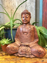 Load image into Gallery viewer, Wooden buddha statue