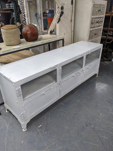 Industrial metal TV cabinet
