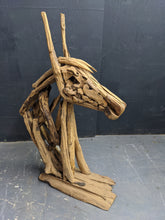 Load image into Gallery viewer, Wooden horse head