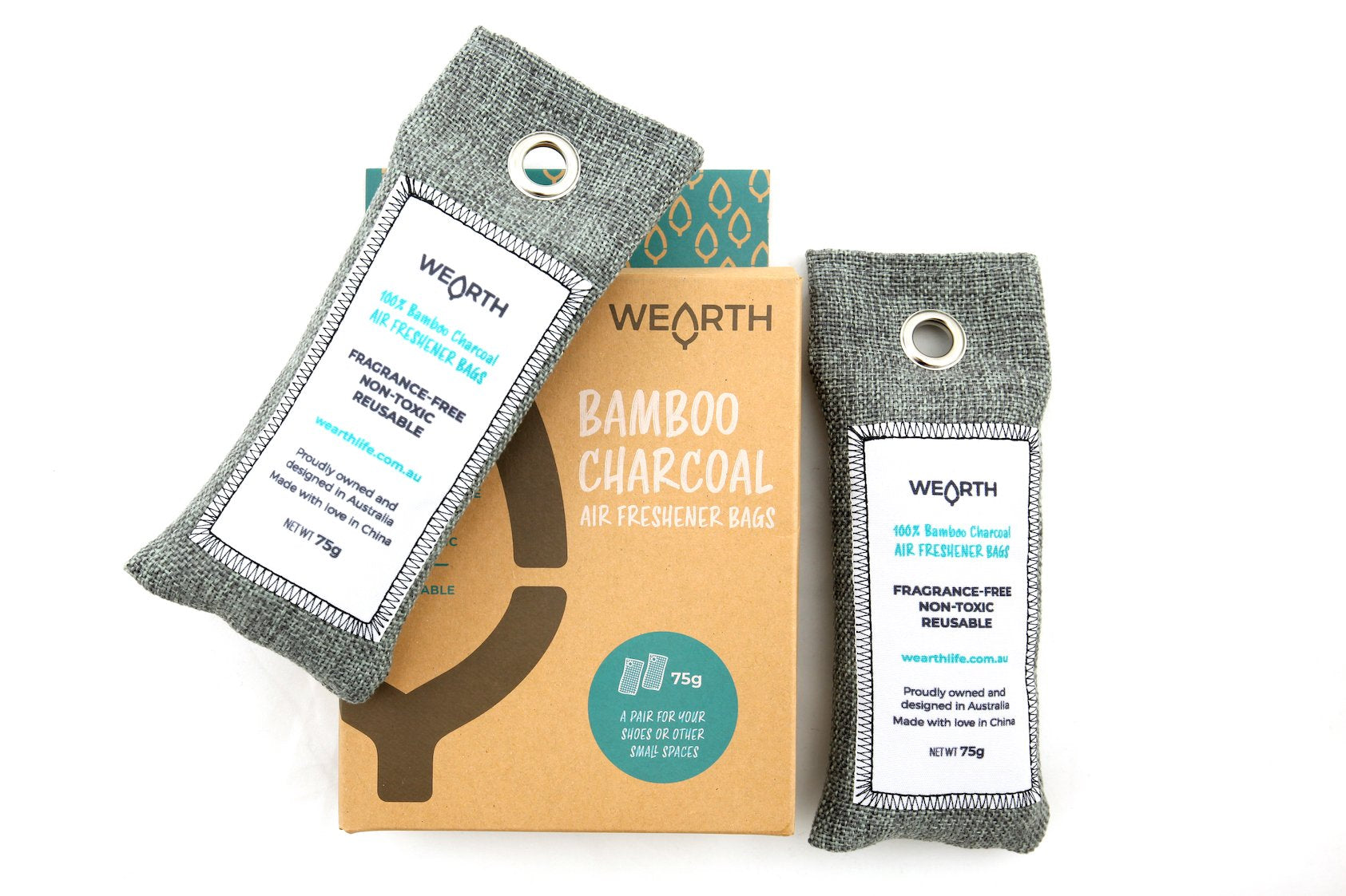 Wearth Bamboo charcoal  air purifying bag - Plastic Free Living