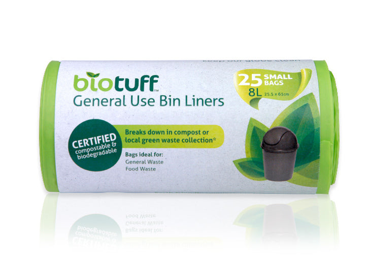 Biotuff | Biotuff Compostable bin liners | Plastic Free Living | Environmentally Friendly Homewares