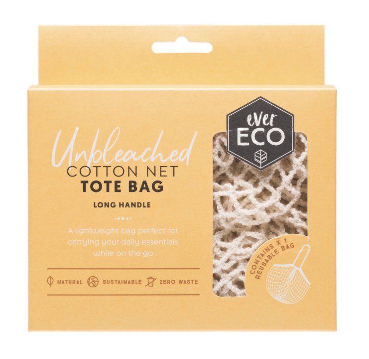 Ever Eco Organic cotton net tote bag long handle - Plastic Free Living