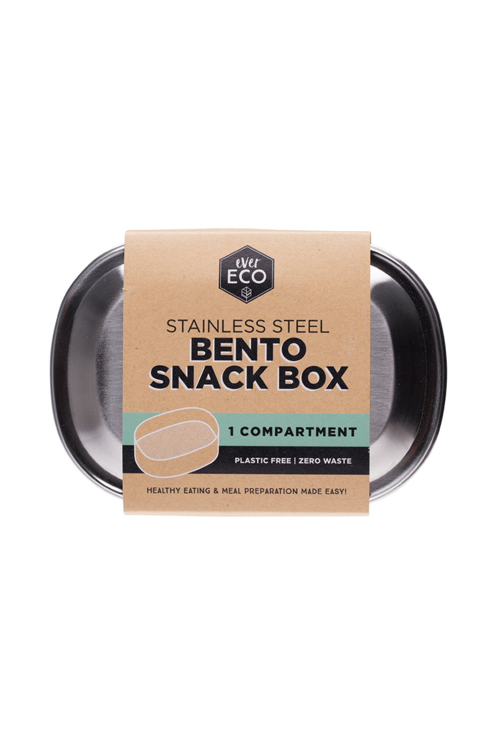 Ever Eco | Bento snack box 1 compartment | Plastic Free Living | Environmentally Friendly Homewares