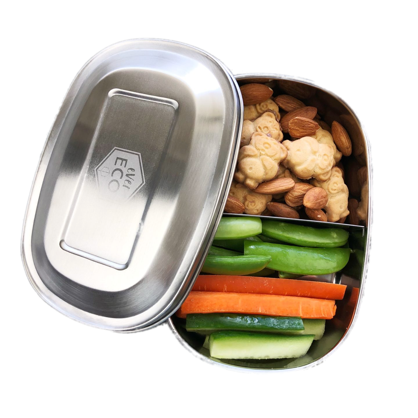 Ever Eco Bento snack box 2 compartment - Plastic Free Living