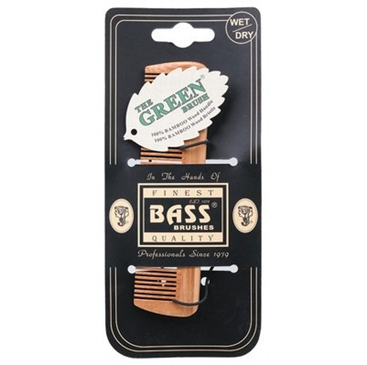 Bass Brushes | Bamboo wood tortoise fine tooth comb | Plastic Free Living | Environmentally Friendly Homewares