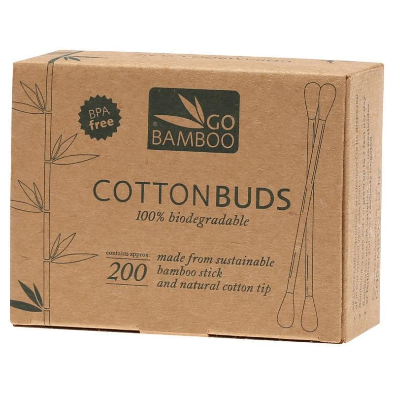 Go Bamboo | Go Bamboo Cotton Buds | Plastic Free Living | Environmentally Friendly Homewares