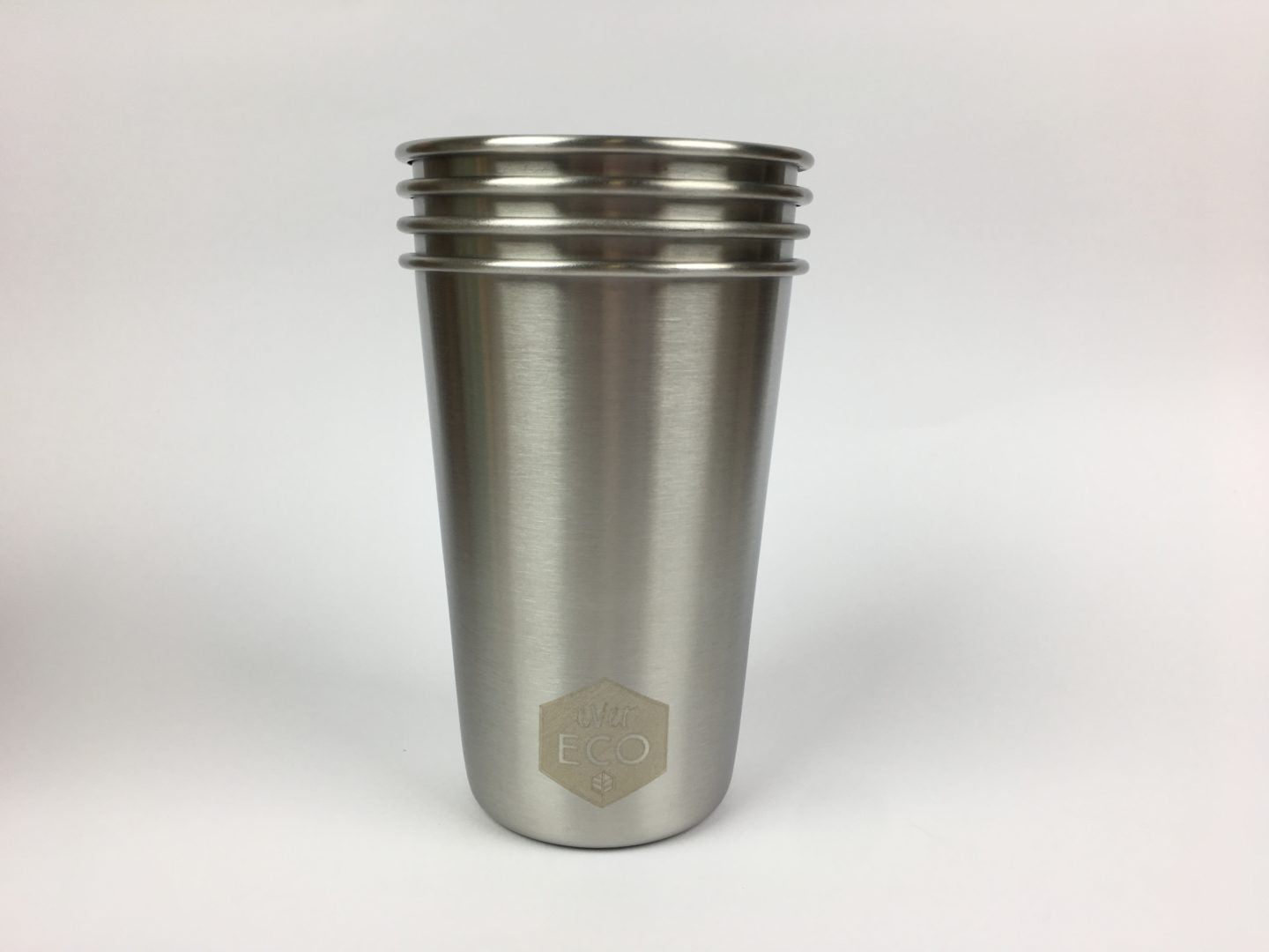 Ever Eco | Stainless steel drinking cups 500ml x 4 | Plastic Free Living | Environmentally Friendly Homewares