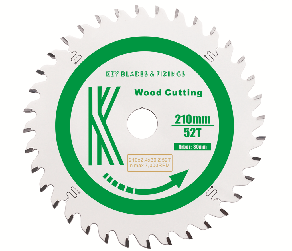 210MM X 30MM X 2.4MM 52 TOOTH TRACK/CIRCULAR SAW BLADE - 2402 - The People's Tool Company