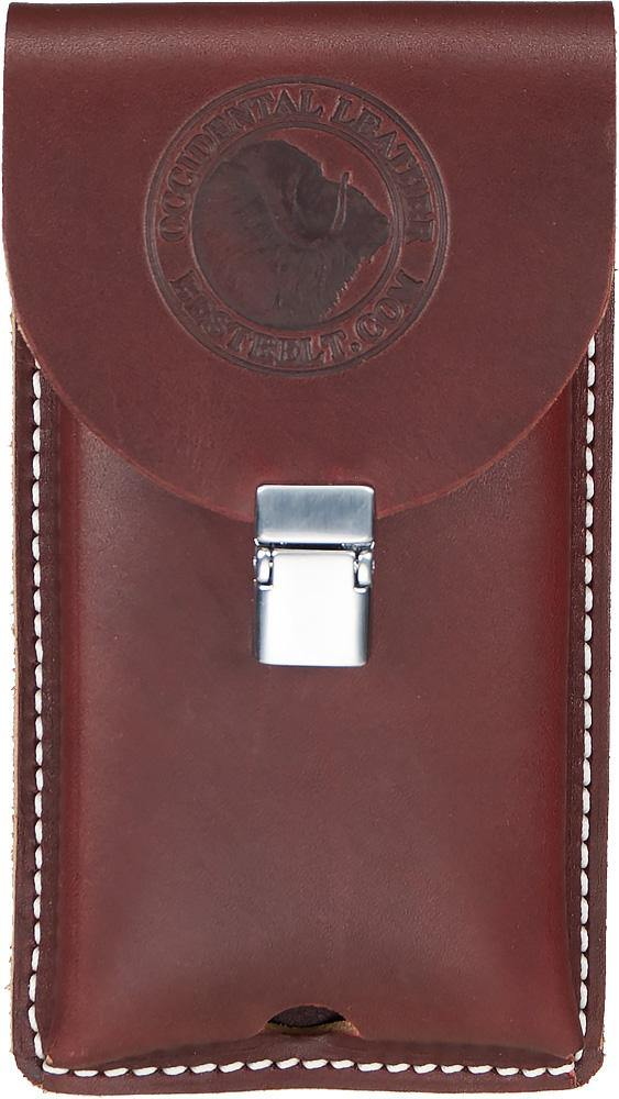 Clip-On Lg. Leather Phone Holster - The People's Tool Company