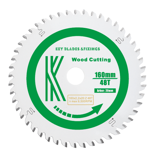 160MM X 20MM X 2.2MM 48 TOOTH TRIPLE CHIP TRACK SAW BLADE (SOLID SURFACE & MFC) - 2206 - The People's Tool Company