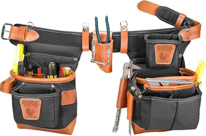 Adjust-to-Fit™ Fat Lip™ Tool Bag Set - Black - Left - The People's Tool Company