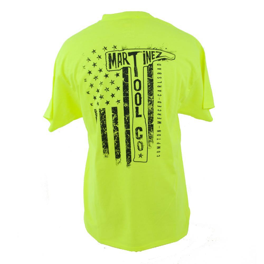Martinez Tools Safety Green Distressed T-Shirt