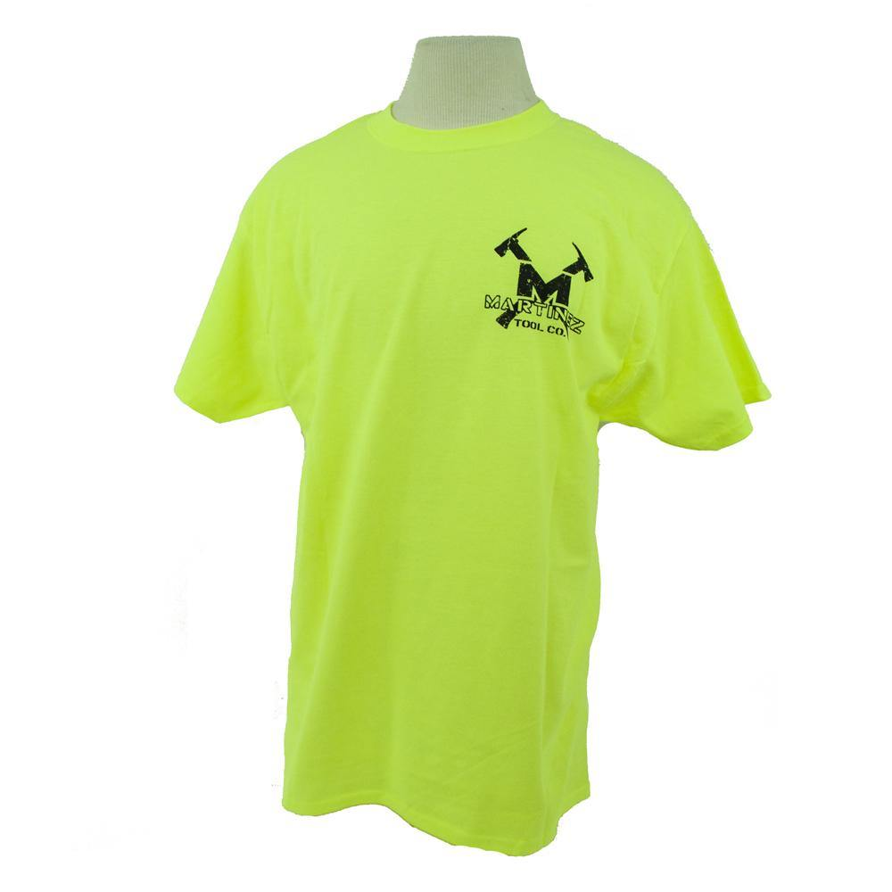 Martinez Tools Safety Green Distressed T-Shirt - The People's Tool Company