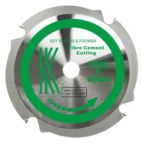160mm x 20mm x 2.2mm 4 Tooth PCD Cement Fibre Board Blade