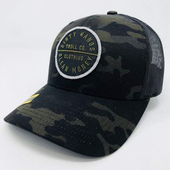 DHCM//Midnight Camo//360 Curved Brim
