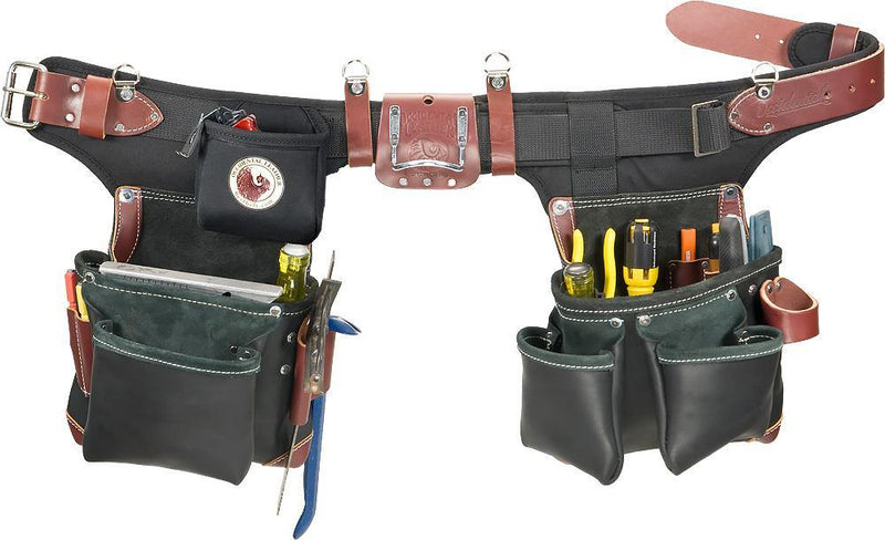 Adjust-to-Fit™ Green Building™ Tool Belt Set -  Black - The People's Tool Company