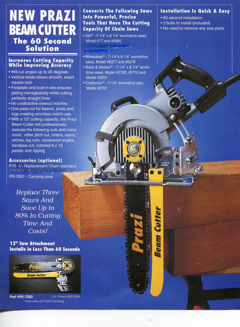 "12"" BEAM CUTTER - MODEL PR-7000 - The People's Tool Company"