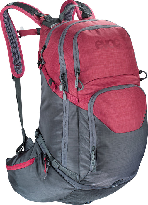 EXPLORER PRO 30 L - Heather carbon grey - Heather ruby