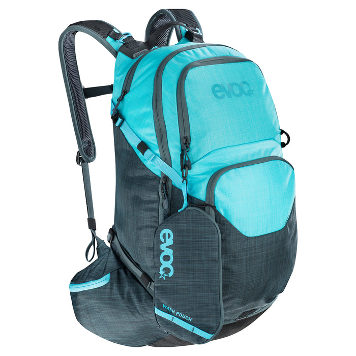 EXPLORER PRO 30 L - Heather Slate - Heather Neon Blue