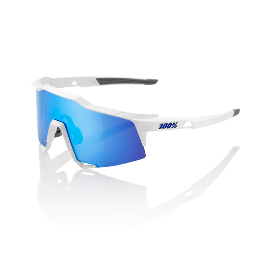Speedcraft - Matte White - HiPER Blue Multilayer Mirror Lens