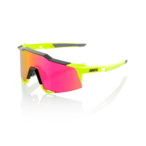 Speedcraft - Polished Black/Fluorescent Yellow - Purple Multilayer Mirror Lens