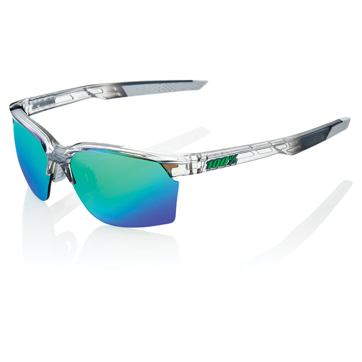 Sportcoupe - Polished Translucent Crystal Grey - Green Multilayer Mirror Lens