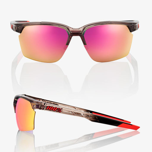 Sportcoupe - Polished Translucent Crystal Smoke - Purple Multilayer Mirror Lens