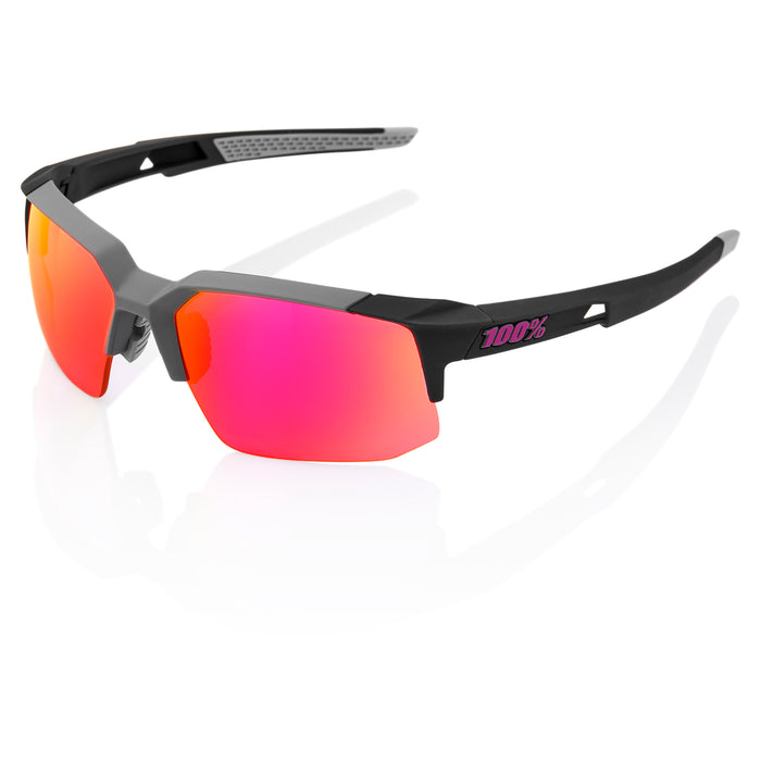 Speedcoupe - Soft Tact Graphite - Purple Multilayer Mirror Lens