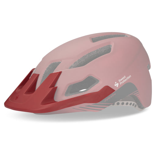 Dissenter Visor - Matte Earth Red - Tilbehør