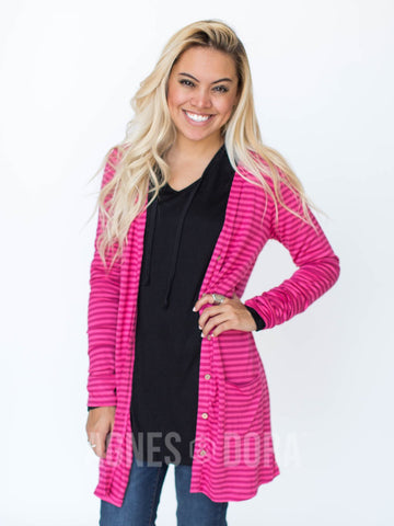 Agnes & Dora™ Favorite Cardi Dark Berry and Blush