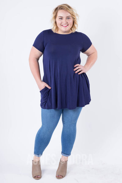 Agnes & Dora™ Swing Tunic Navy