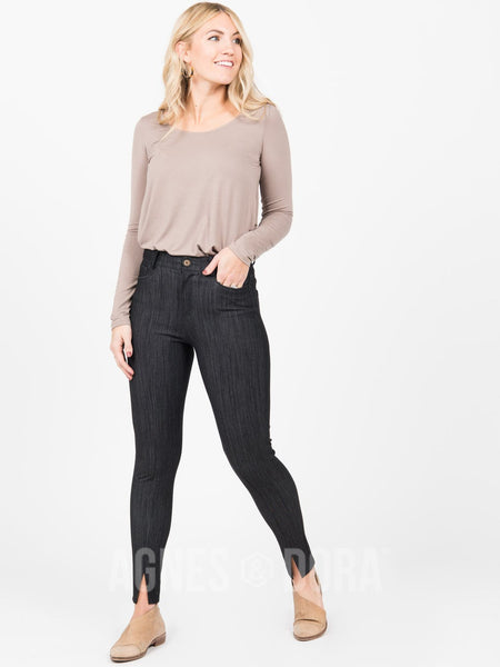 Agnes & Dora™ Center Seam Pant Black Denim