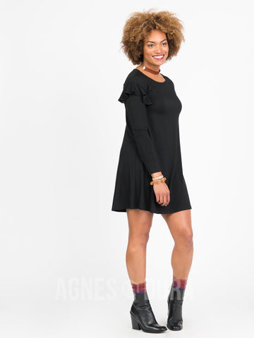Agnes & Dora™ Ruffle Dress Black