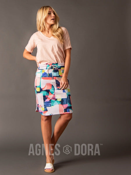 Agnes & Dora™ Live In Skirt Watercolor Geo